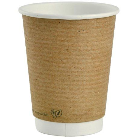 VASOS CARTON KRAFT/MARRONES DOBLE CAPA 8oz PARA BEBIDAS CALIENTES