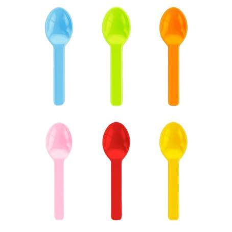 CUCHARILLAS PLASTICO PLA COLORES 66mm PARA HELADOS
